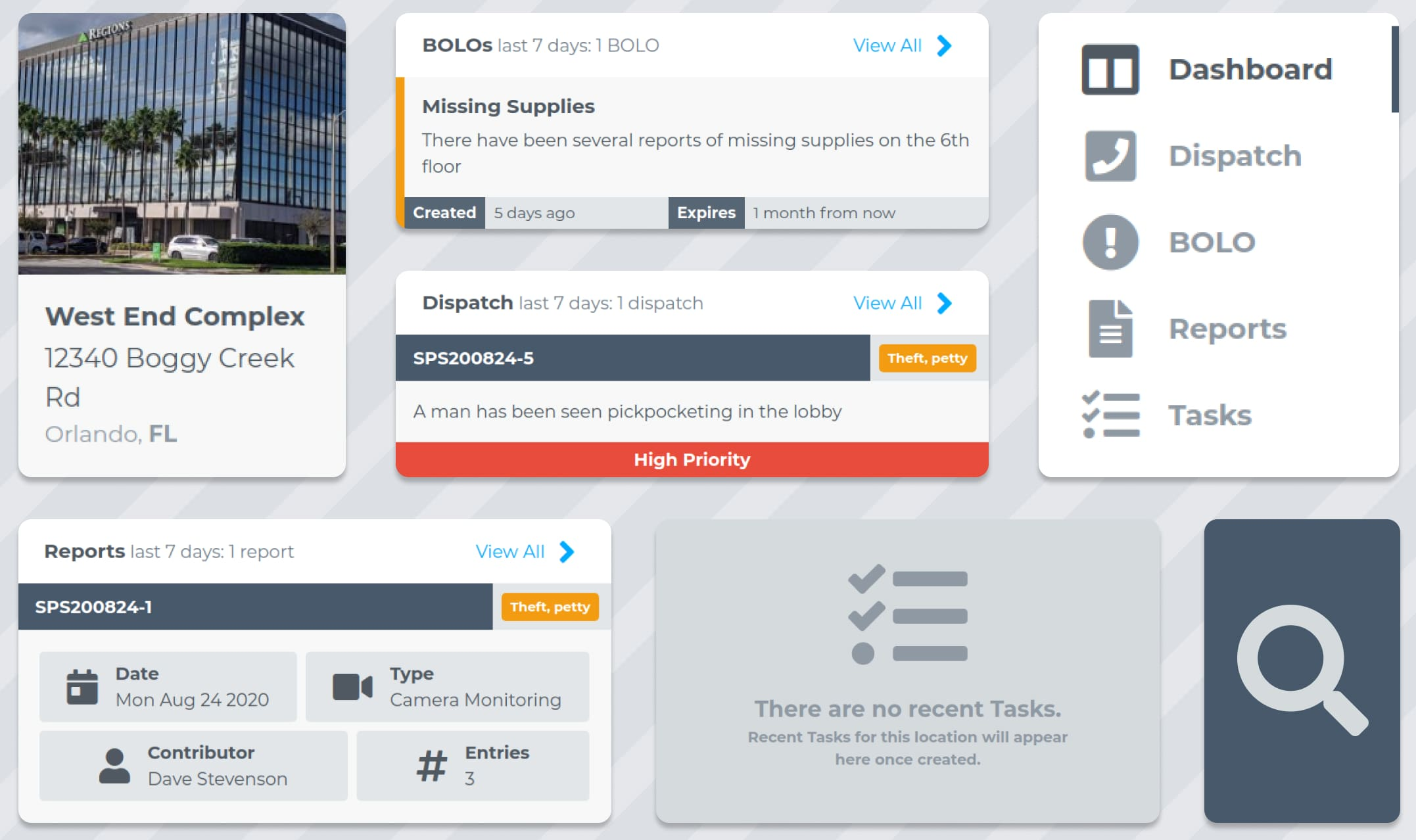 Different panels of the client portal app showcased